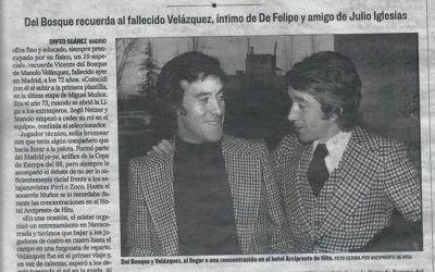 Antonio Herrero da el último adiós a Manolo Velázquez